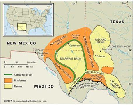 The Permian Basin in Western Texas.